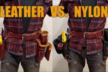 leather vs nylon tool belt